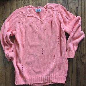 BENETTON Vintage 100% Cotton Oversized Sweater S